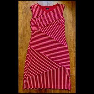 Ann Taylor Red & White Nautical Dress, Small